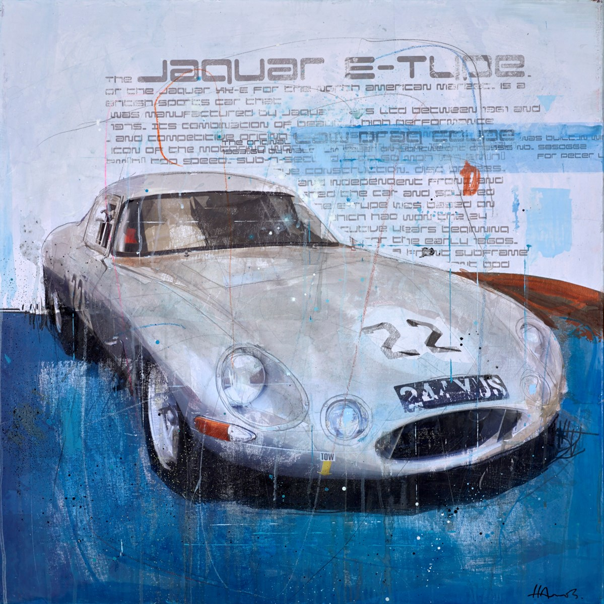 Jaguar E-Type by markus haub -  sized 32x32 inches. Available from Whitewall Galleries
